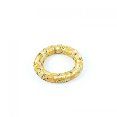 Klangschalenkissen Ring golden 14.5 cm