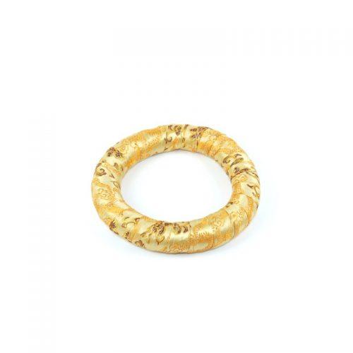 Klangschalenkissen Ring golden 17.5 cm