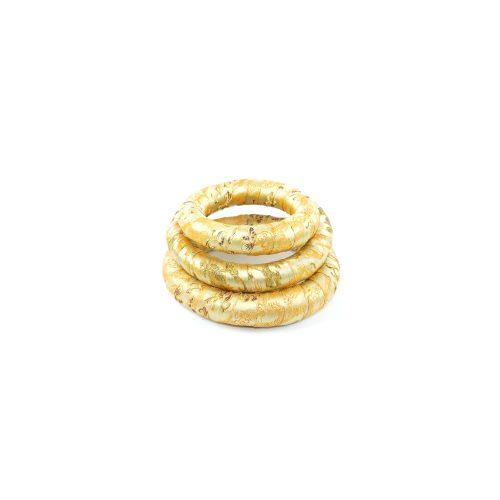 Klangschalenkissen Ring golden