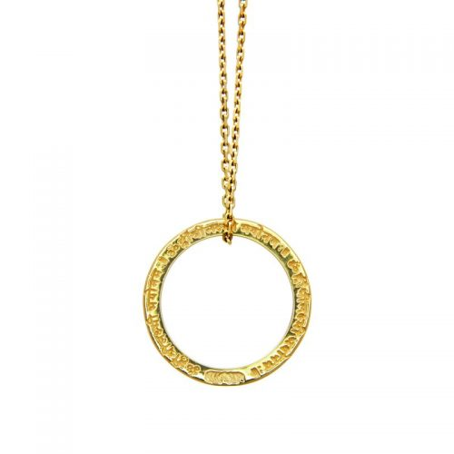 Gold Anhänger | Lakshmi Bee Mantra | ohne Öse