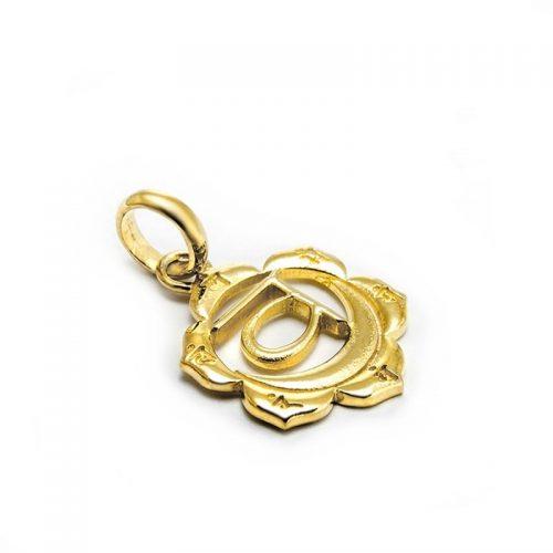 Gold Anhänger Sakral Chakra 18 Karat vergoldet aus Sterlingsilber | Spiritueller Schmuck | Chakra Schmuck | Chakra Anhänger | Yoga Schmuck