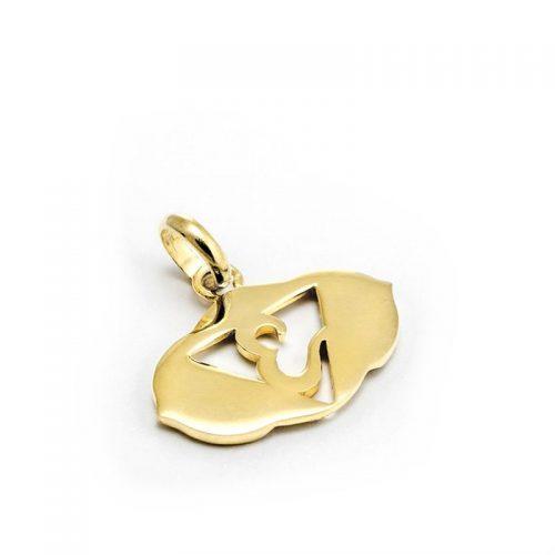 Gold Anhänger Stirn Chakra aus Sterlingsilber 18 Karat vergoldet | Rückseite | Yoga Schmuck | Chakra Anhänger | Spiritueller Anhänger