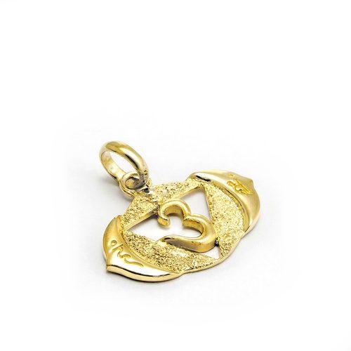 Gold Anhänger Stirn Chakra aus Sterlingsilber 18 Karat vergoldet