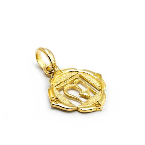 Gold Anhänger Wurzel Chakra 18 Karat vergoldet aus Sterlingsilber