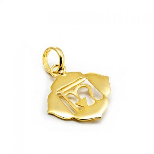 Gold Anhänger Wurzel Chakra 18 Karat vergoldet aus Sterlingsilber | Rückseite | Spiritueller Schmuck | Yoga Schmuck | Chakra Anhänger