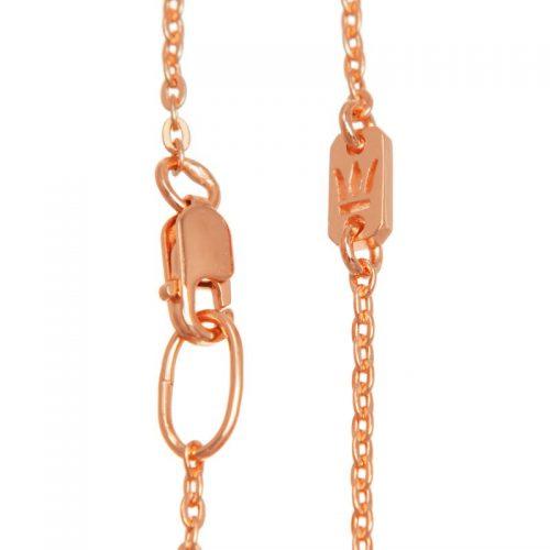 Halskette Rosegold Ankerkette vergoldet | Halskette Rosegold