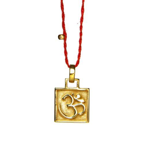 OM Anhänger Amulett vergoldet | OM Anhänger