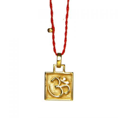OM Anhänger Amulett vergoldet | OM Anhänger | Yoga Schmuck | Spiritueller Schmuck | Esoterischer Schmuck | Yoga Stilvoll