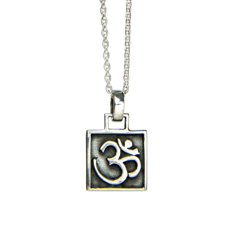 OM Anhänger Amulett Silber | OM Anhänger | OM Anhänger Silber | Silberanhänger