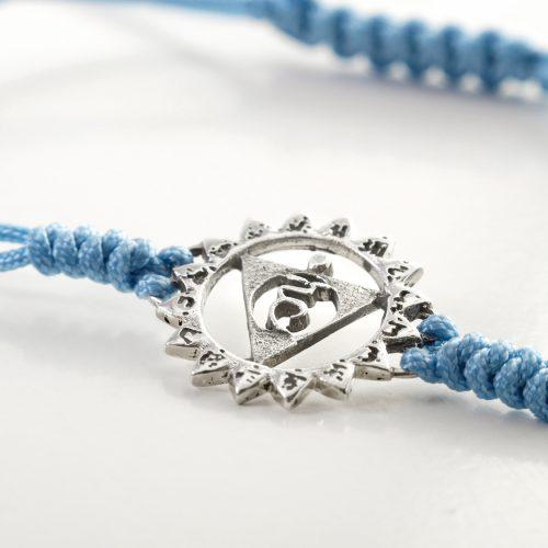 Chakra Armband   mit Hals Chakra   aus Sterling Silber   Yoga Schmuck