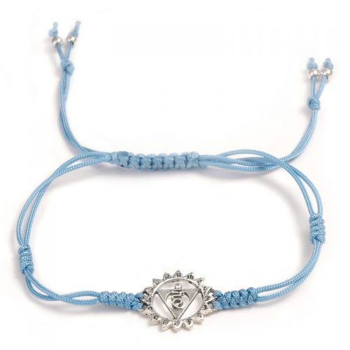 Chakra Armband | mit Hals Chakra | aus Sterling Silber | Yoga Schmuck