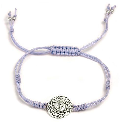 Chakra Armband   mit Kronen Chakra   aus Sterling Silber   Yoga Schmuck