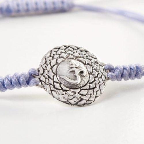 Chakra Armband | mit Kronen Chakra | aus Sterling Silber | Yoga Schmuck