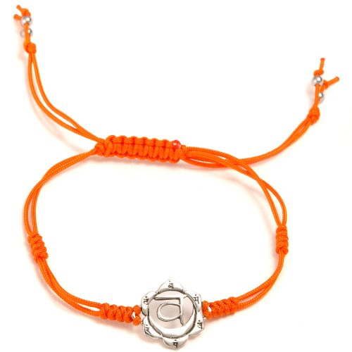 Chakra Armband   mit Sakral Chakra   aus Sterling Silber   Yoga Schmuck