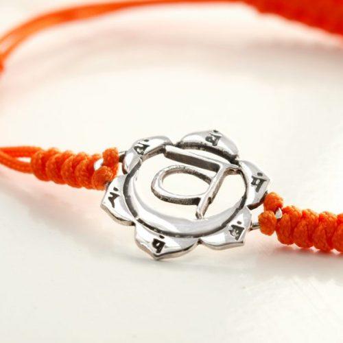 Chakra Armband | mit Sakral Chakra | aus Sterling Silber | Yoga Schmuck