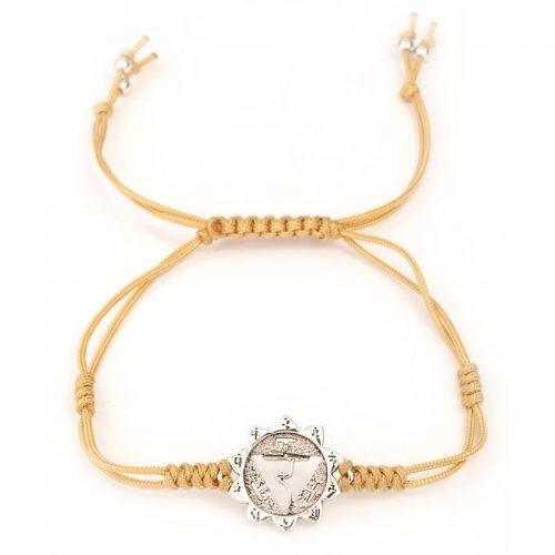 Chakra Armband | Solar Plexuss Chakra | aus Sterling Silber | Yoga Schmuck