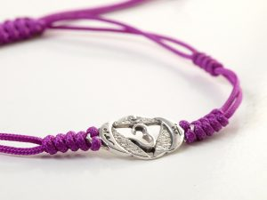 Chakra Armband | mit Stirn Chakra | aus Sterling Silber | Yoga Schmuck