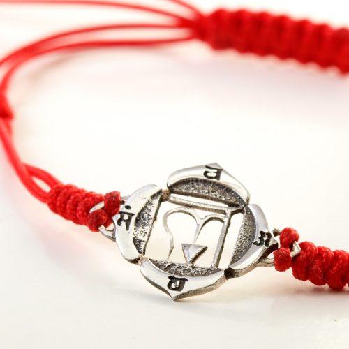 Chakra Armband   Wurzel Chakra   aus Sterling Silber   Yoga Schmuck
