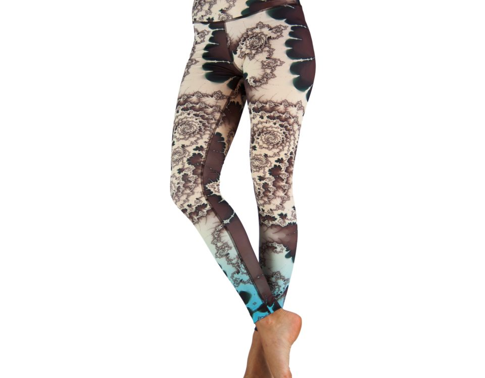 Yoga Leggings | Yoga Hose | Yoga Pants | Leggings | Yogahose | Fitness Leggings | von Niyama | Emerald Spring