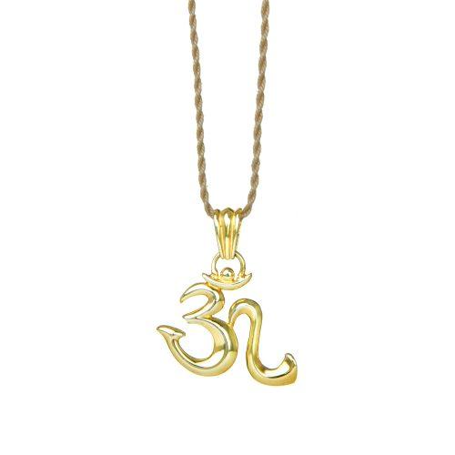 Gold Anhänger   OM   Sterling Silber   18 karat vergoldet  Yoga Schmuck