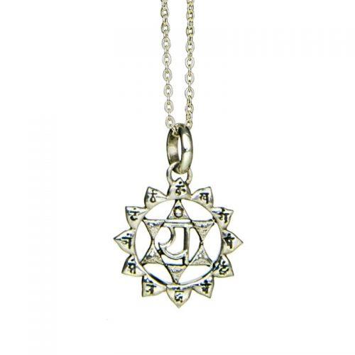 Silber Anhänger Herz Chakra | Silber Anhänger | Yoga Schmuck | Chakra Anhänger | Silber Anhänger kaufen