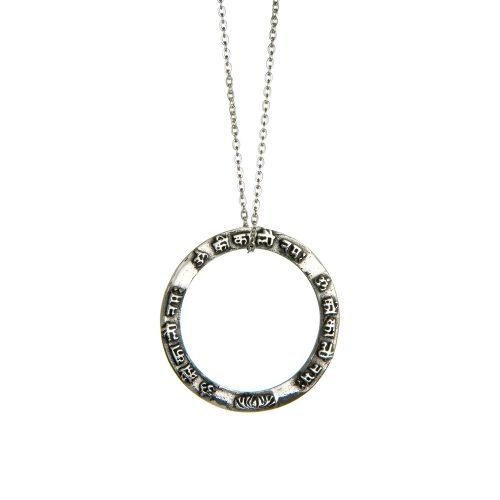 Silber Anhänger | Kali Mula Mantra | ohne Öse | Sterling-Silber