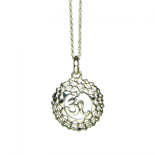 Silber Anhänger Kronen Chakra | Silber Anhänger | Yoga Schmuck | Chakra Schmuck | Silber Anhänger kaufen