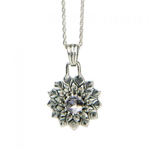 Silber Anhänger Kronen Chakra Bergkristall | Silber Anhänger | Silber Anhänger kaufen | Chakra Anhänger | Yoga Schmuck