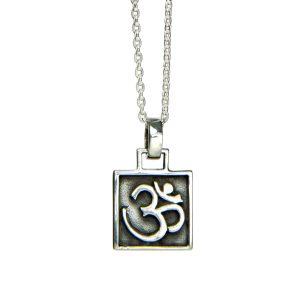 Silber Anhänger | OM Anhänger | Amulett | Yoga Schmuck | aus Sterlingsilber