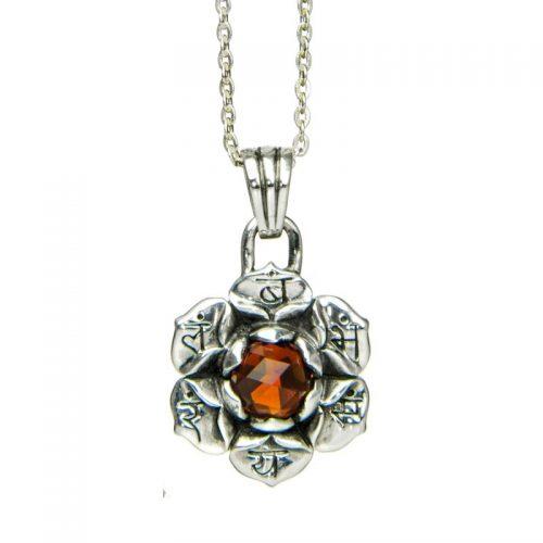 Silber Anhänger Sakral Chakra mit Citrin | Silber Anhänger | Silber Anhänger kaufen | Chakra Anhänger | Yoga Schmuck