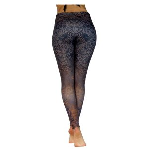 Yoga Pants Black Rose von Niyama