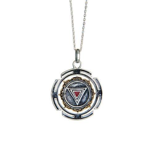 Silber Anhänger | Kali Mula Yantra | rund | 925er Sterling Silber |
