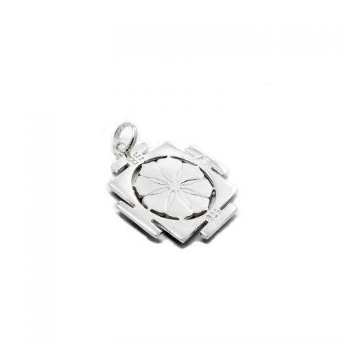 Silber Anhänger | Kali Yantra | 925er Sterling Silber | Rückansicht
