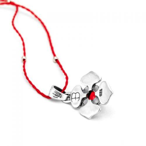 Silber Anhänger Wurzel Chakra aus Sterlingsilber mit hochwertigen Granat | Rückseite | Yoga Schmuck | Spiritueller Schmuck | Chakra Anhänger
