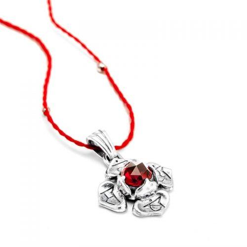 Silber Anhänger Wurzel Chakra aus Sterlingsilber mit hochwertigen Granat | Chakra Anhänger | Yoga Schmuck | Spiritueller Anhänger | Spiritueller Schmuck | Silber Anhänger kaufen