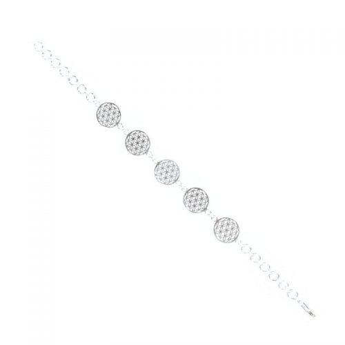 Armband Blume des Lebens Silber 925er Sterlingsilber