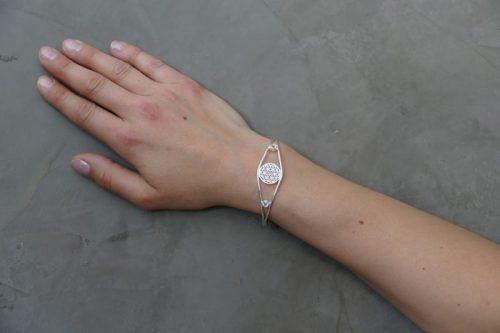 Armreif | Blume des Lebens | Silber 925er Sterlingsilber