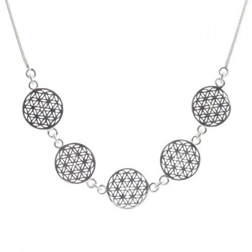Halskette | Blume des Lebens | Collier | Silber | 925er Sterlingsilber
