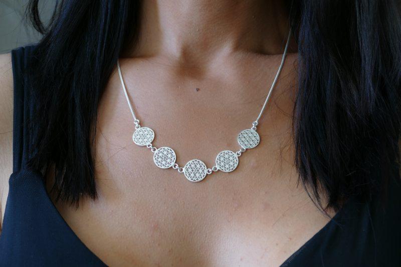 Halskette | Blume des Lebens | Collier | Silber 925er Sterlingsilber