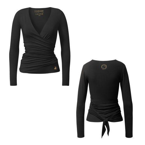 Yoga Jacke – Wrap Jacket von Curare black GOLD EDITION
