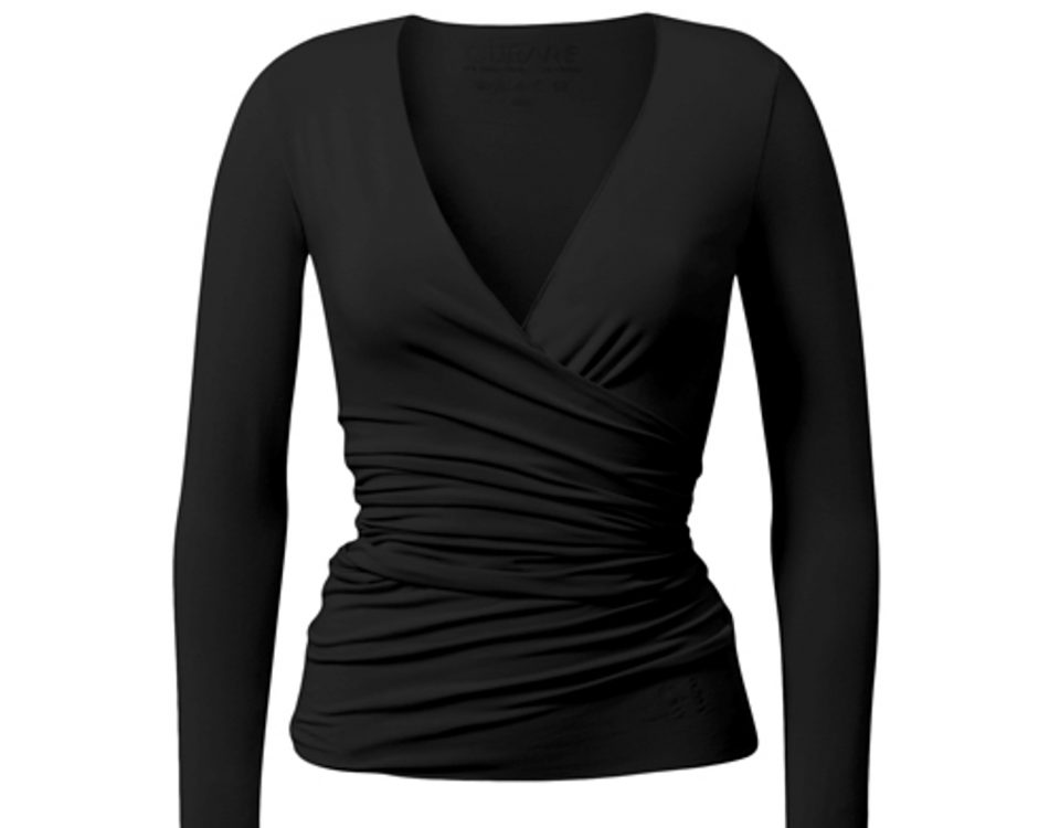 Yoga Jacke | Wrap Jacket | von Curare | black | Yogajacke