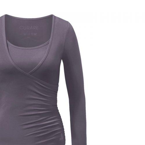 Yoga Shirt | Wrap Shirt | von Curare | new stone | Yoga Shirt kaufen | Yogabekleidung | Yoga Shirt Damen
