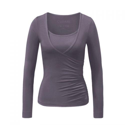 Yoga Shirt-Wrap Shirt von Curare-new stone | Yoga T-Shirt | Yoga Shirt | Yoga Shirt Damen | Yoga Kleidung