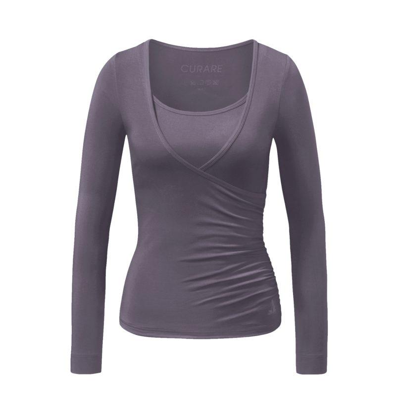 Yoga Shirt - Wrap Shirt von Curare - new stone   YOGA STILVOLL