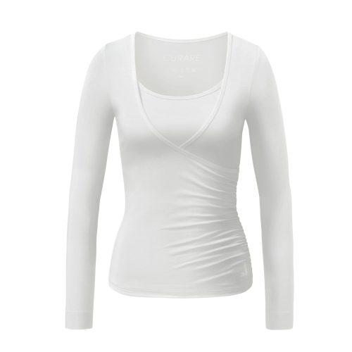 Yoga Shirt | Wrap Shirt | von Curare | white