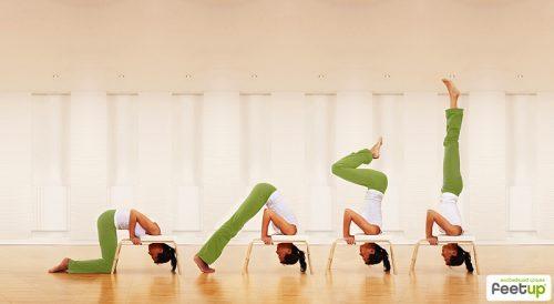 Feetup® Kopfstandhocker - Classic - white | Übungen mit dem FeetUp® Trainer | Kopfstandhocker | Kopfstandhocker kaufen