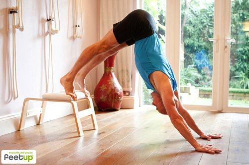Feetup® Kopfstandhocker - Classic - white | Übungen mit dem FeetUp® Trainer