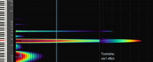 Große Tibetische Klangschale Frequenzanalyse Bild bei Yoga Stilvoll 1665g