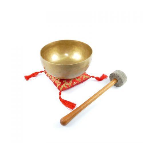 Tibetische Klangschalen von 700g - 750g, matt mit Klangschalenkissen und Klöppel