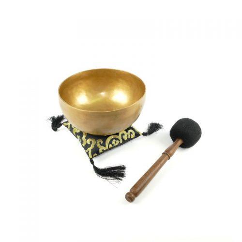 Tibetische Klangschalen von 750g - 800g, matt mit Klangschalenkissen und Klöppel